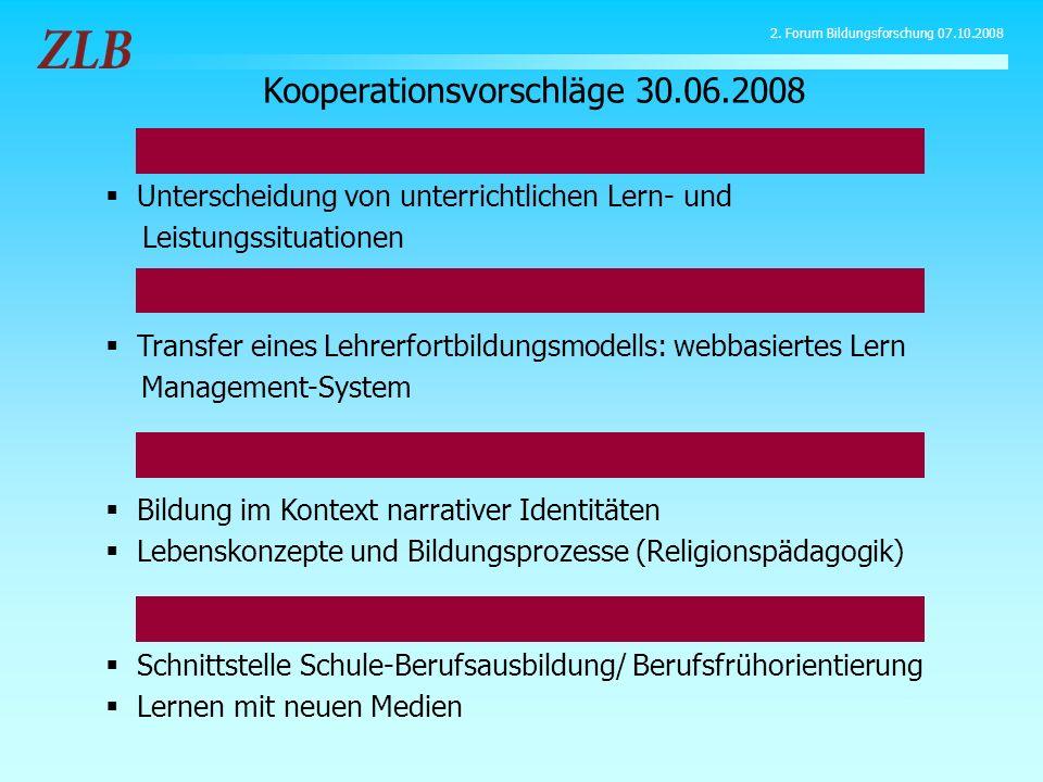 Kooperationsvorschläge 30.06.2008