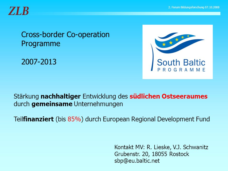 Cross-border Co-operation Programme 2007-2013