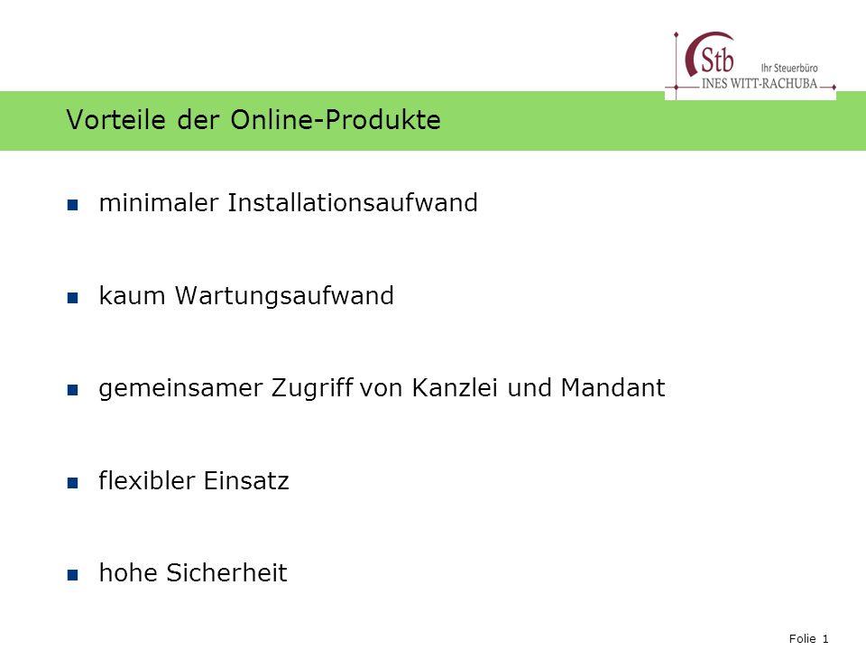 Vorteile der Online-Produkte