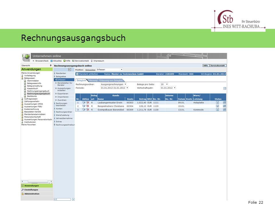 Rechnungsausgangsbuch