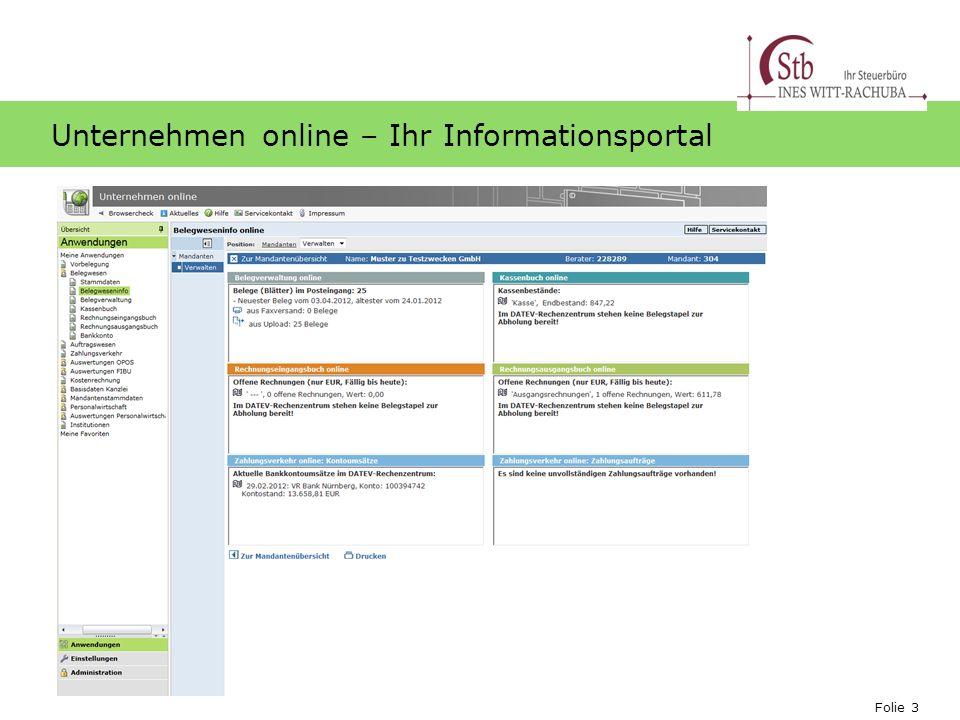 Unternehmen online – Ihr Informationsportal