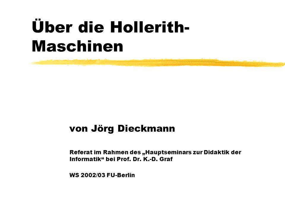 Über die Hollerith-Maschinen