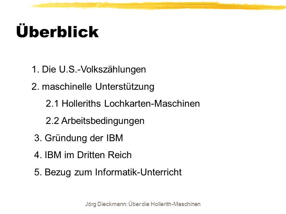 Jörg Dieckmann: Über die Hollerith-Maschinen