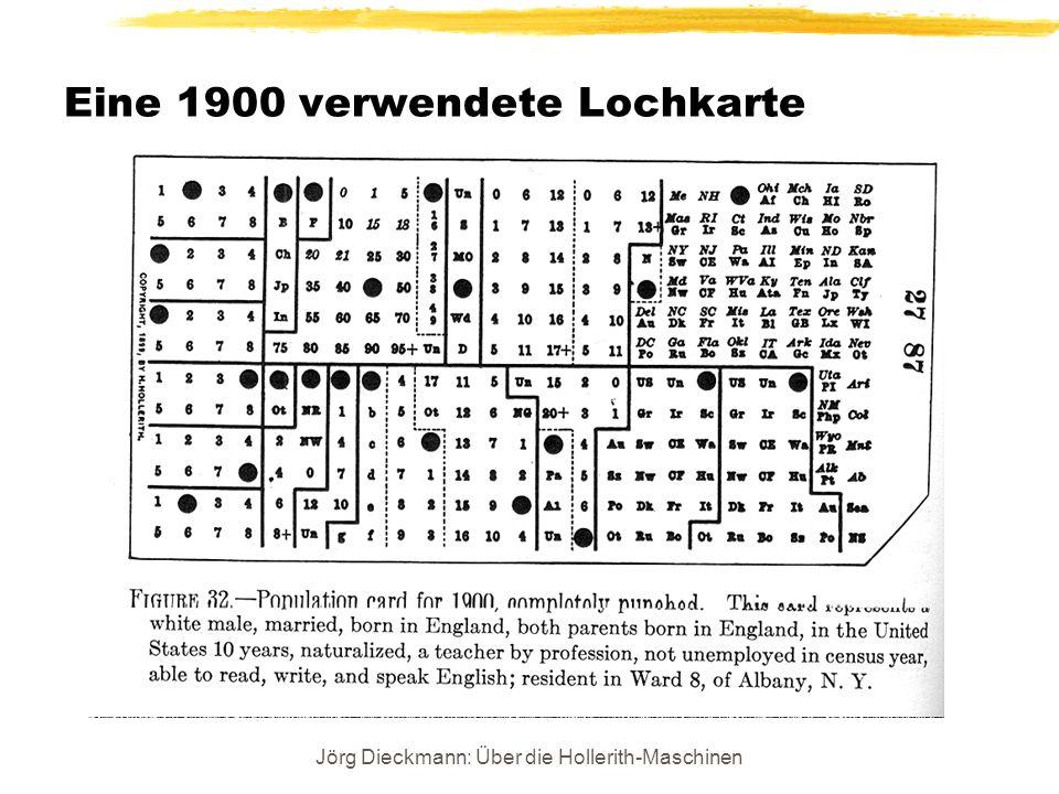 Eine 1900 verwendete Lochkarte