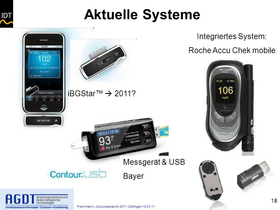 Aktuelle Systeme Integriertes System: Roche Accu Chek mobile