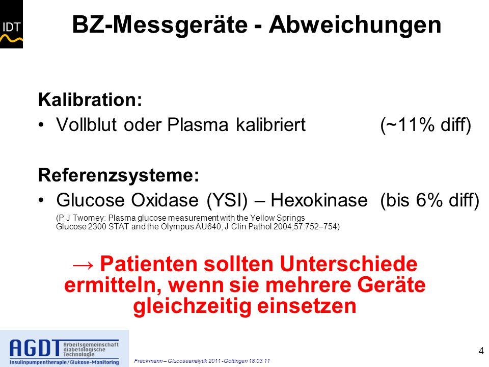 BZ-Messgeräte - Abweichungen