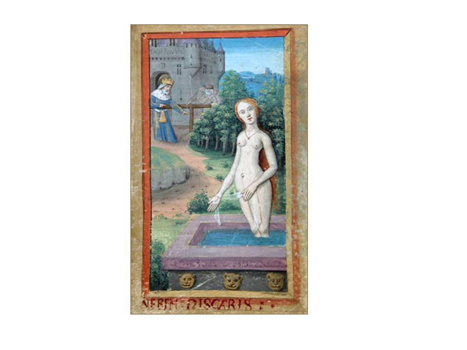 Stundenbuch auf Pergament, Paris ( ), um 1500: Susanna im Bade