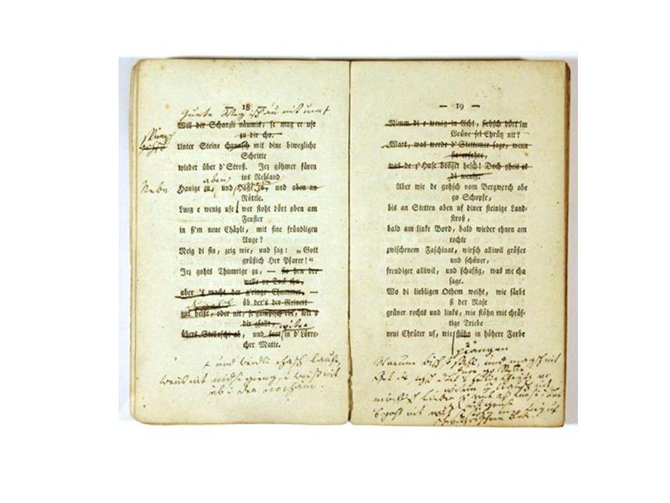 Aus der Schlossbibliothek Baden-Baden: Johann Peter Hebel: Allemannische Gedichte, Karlsruhe 1803 (Handexemplar des Dichters)