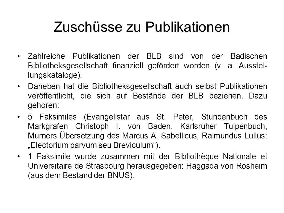 Zuschüsse zu Publikationen