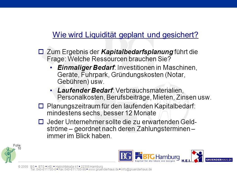 Wie wird Liquidität geplant und gesichert
