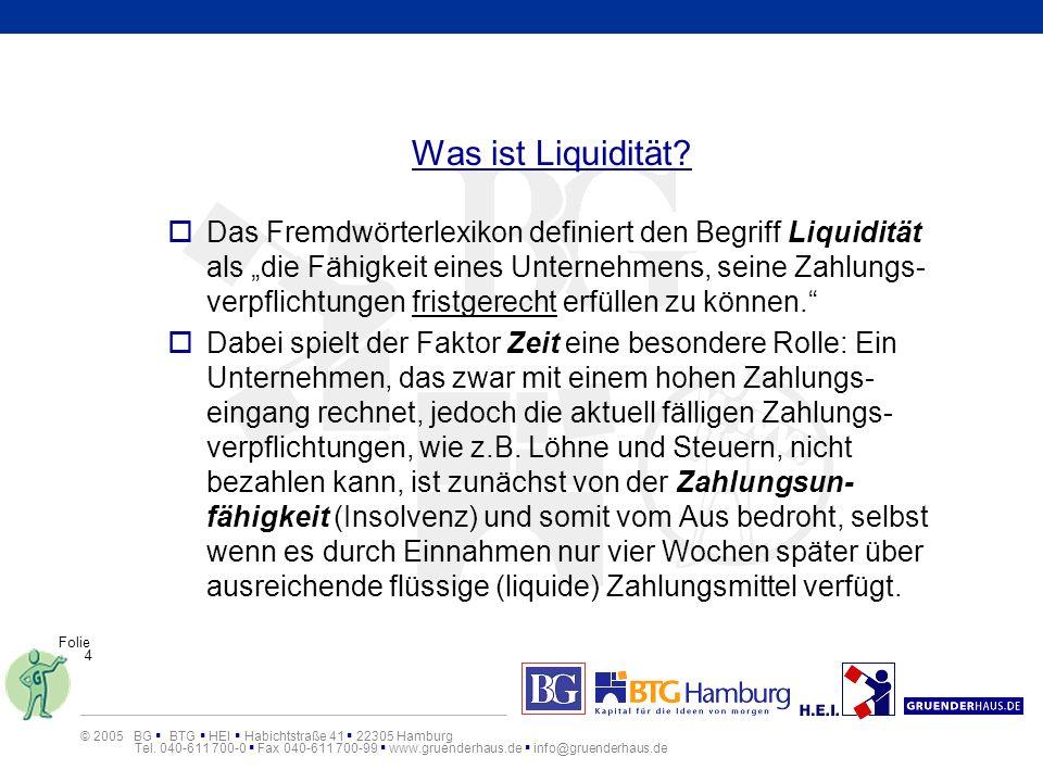 Was ist Liquidität