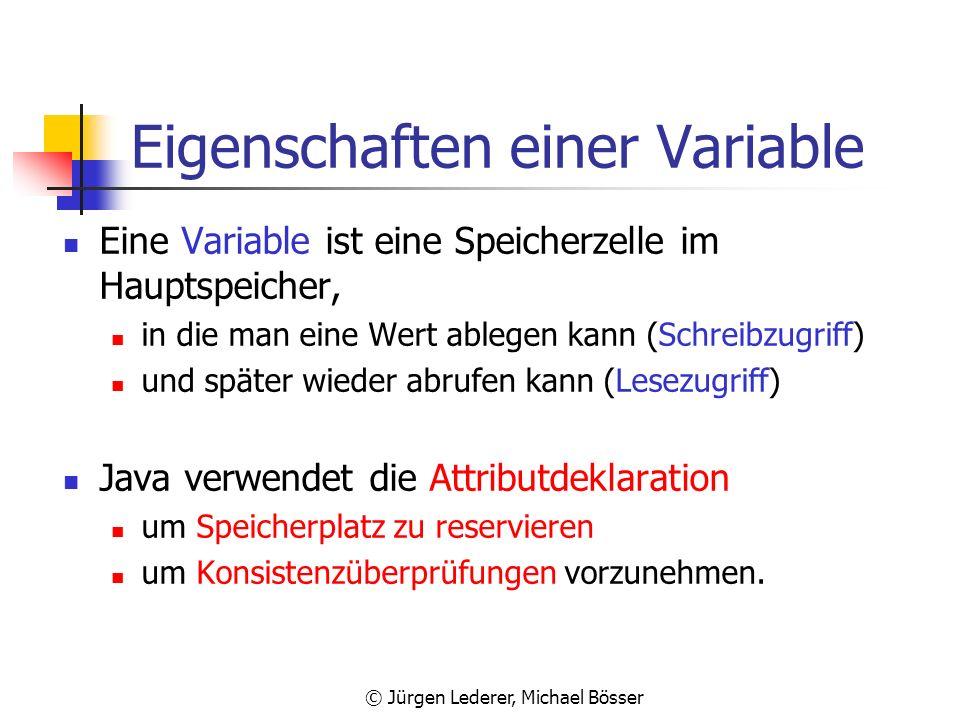 Eigenschaften einer Variable
