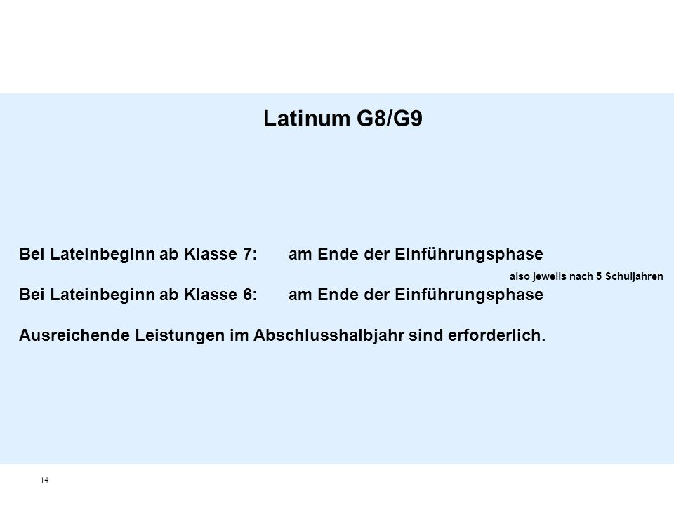 Latinum G8/G9