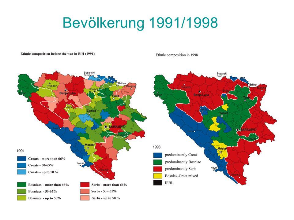 Bevölkerung 1991/1998