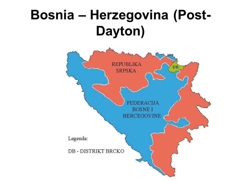 Bosnia – Herzegovina (Post-Dayton)