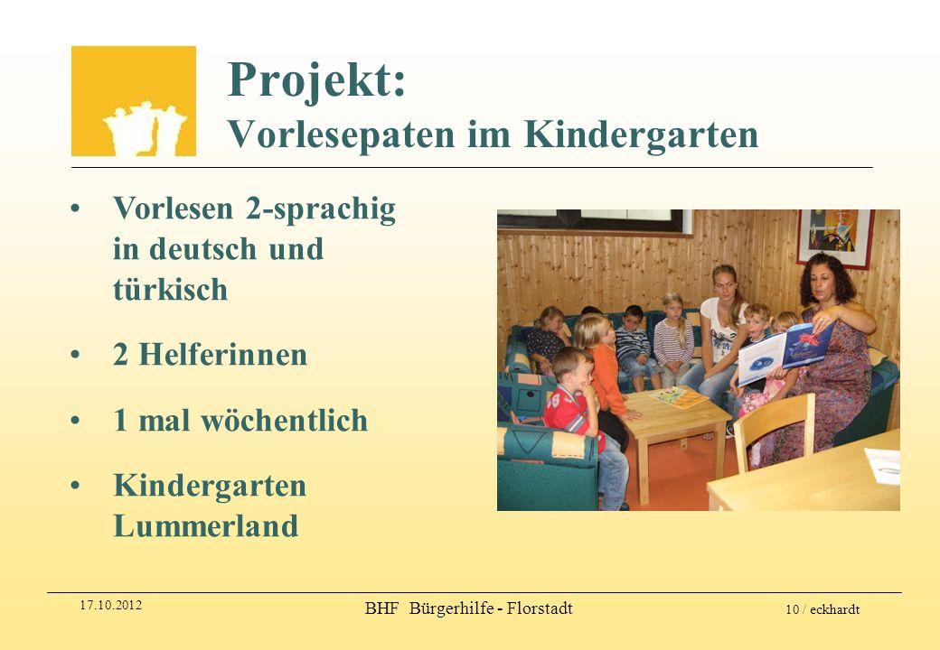 Projekt: Vorlesepaten im Kindergarten