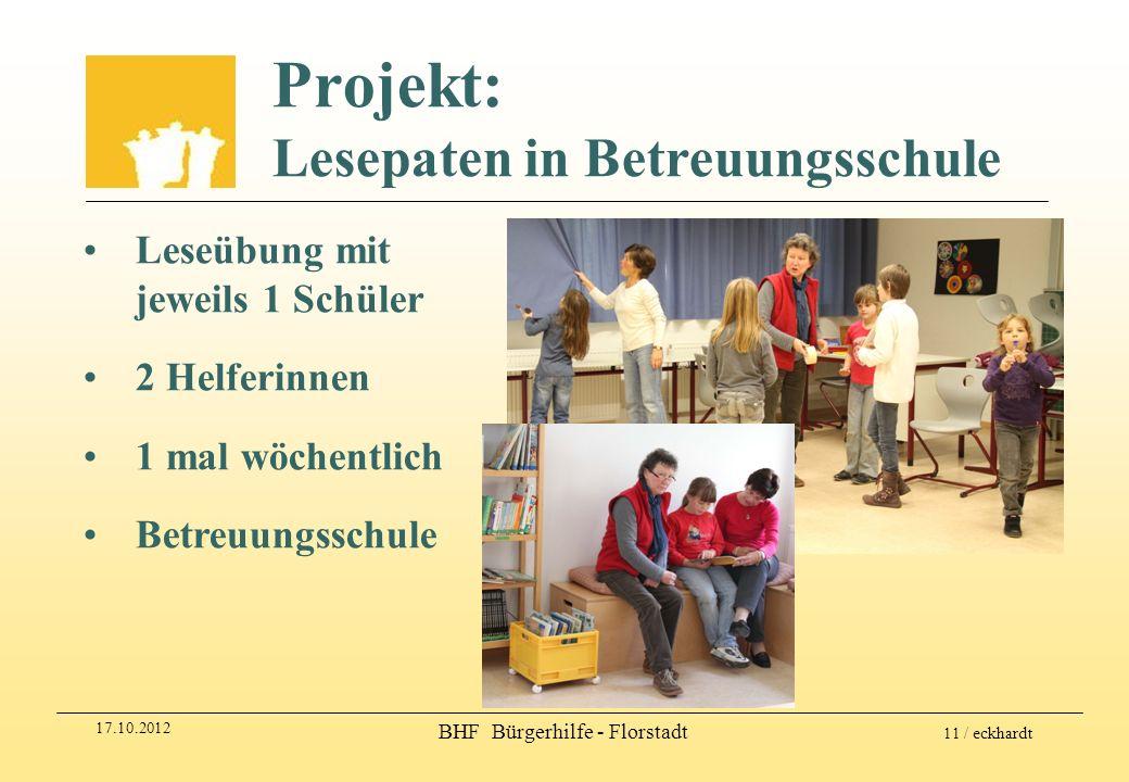 Projekt: Lesepaten in Betreuungsschule