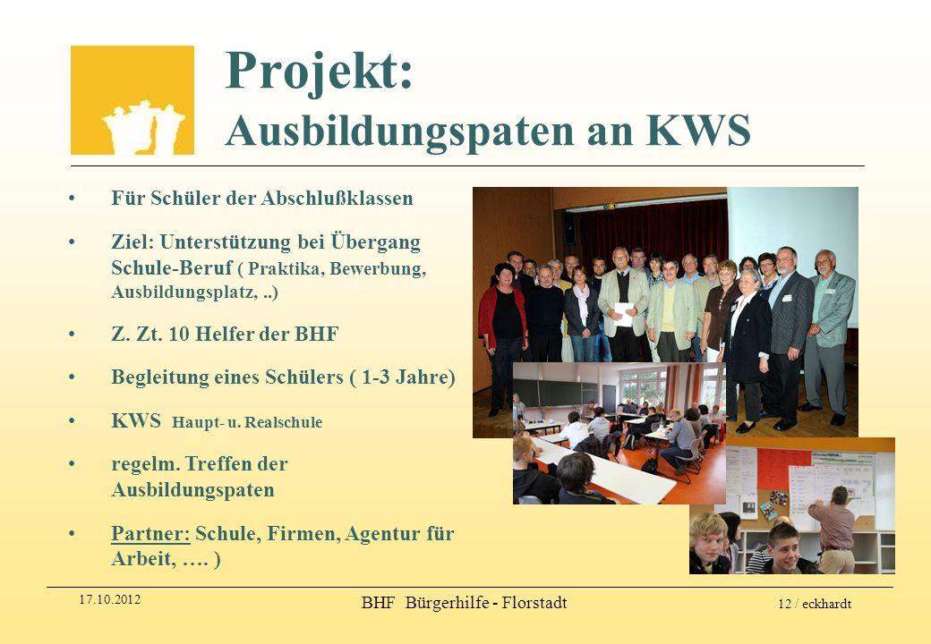 Projekt: Ausbildungspaten an KWS