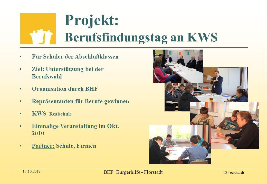 Projekt: Berufsfindungstag an KWS