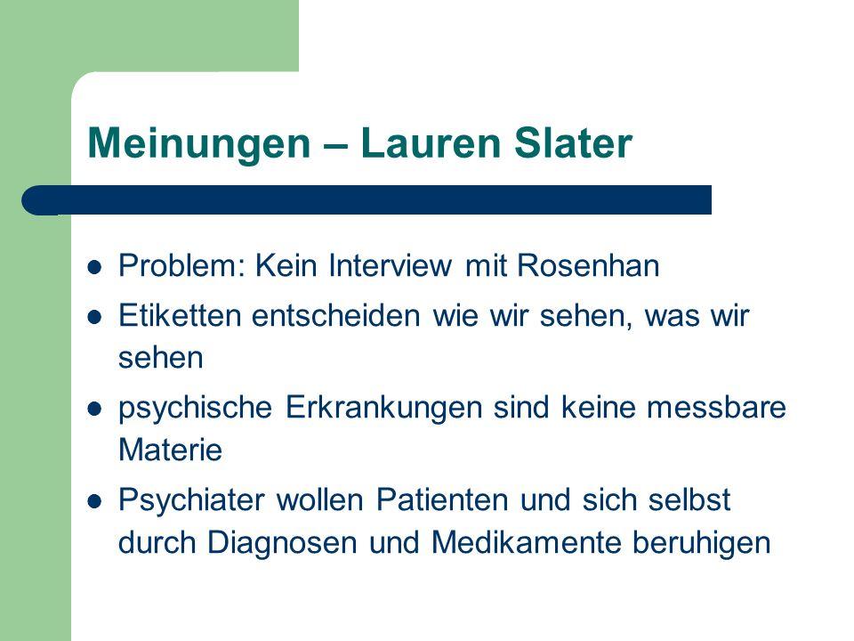 Meinungen – Lauren Slater