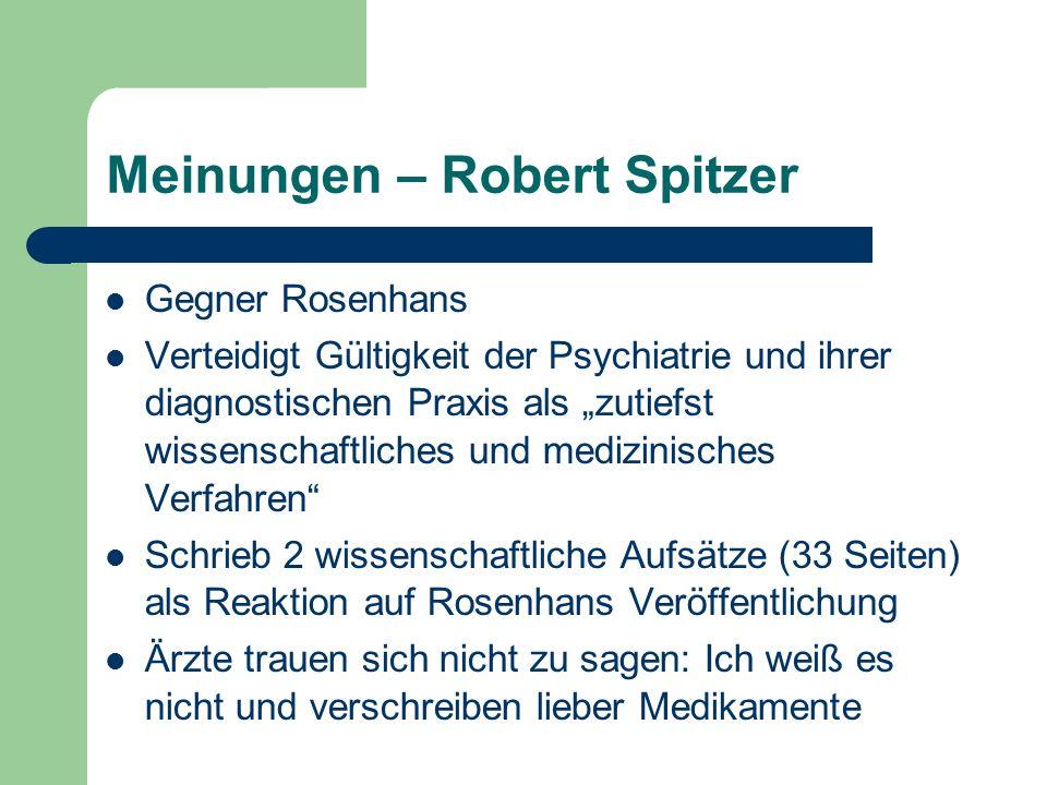 Meinungen – Robert Spitzer