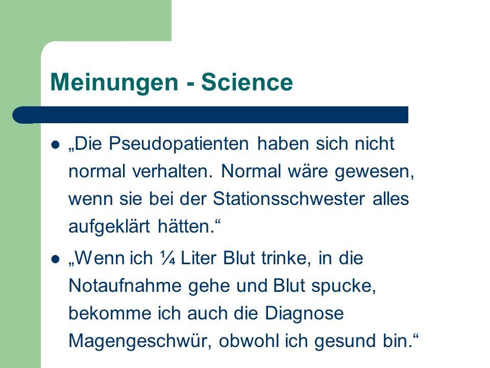 Meinungen - Science