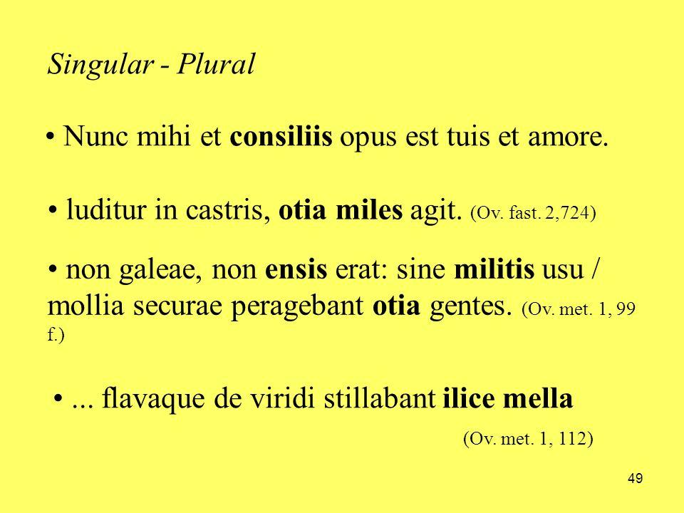 Nunc mihi et consiliis opus est tuis et amore.