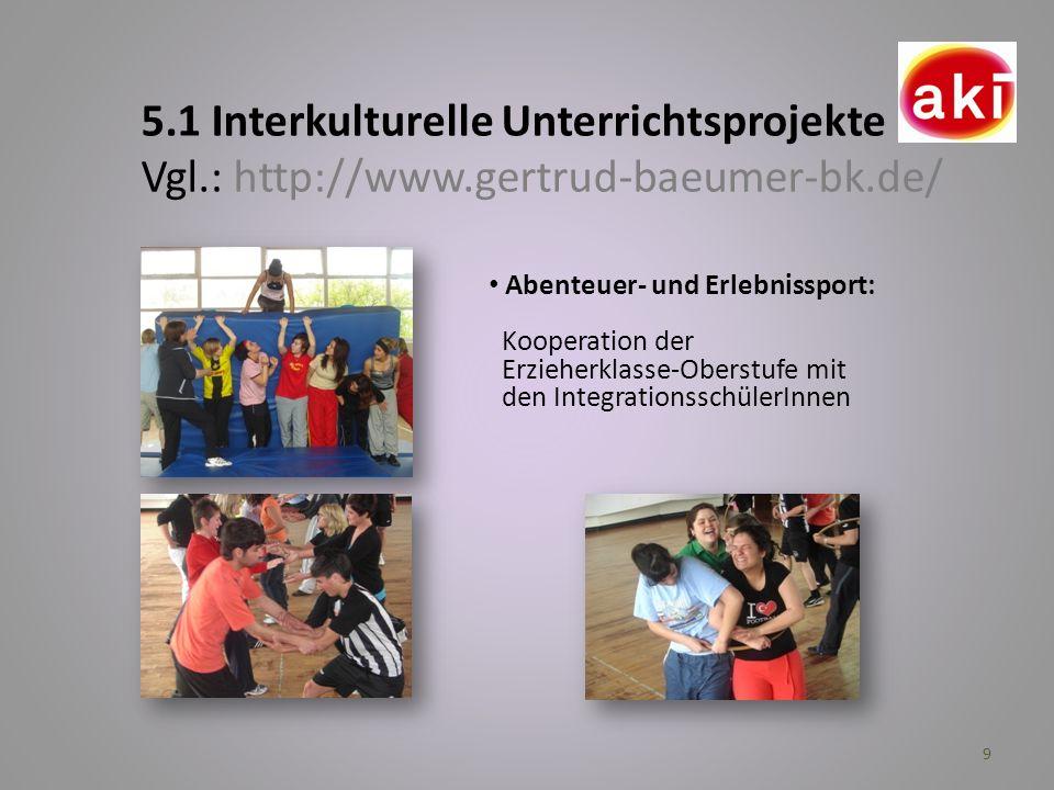 5. 1 Interkulturelle Unterrichtsprojekte Vgl. : http://www