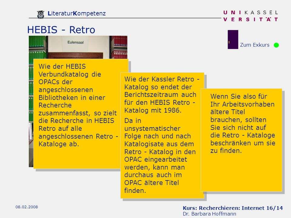 HEBIS - Retro Zum Exkurs.