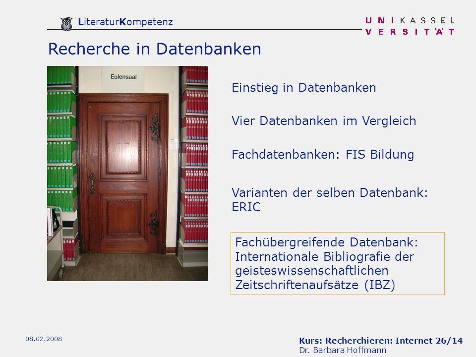 Recherche in Datenbanken