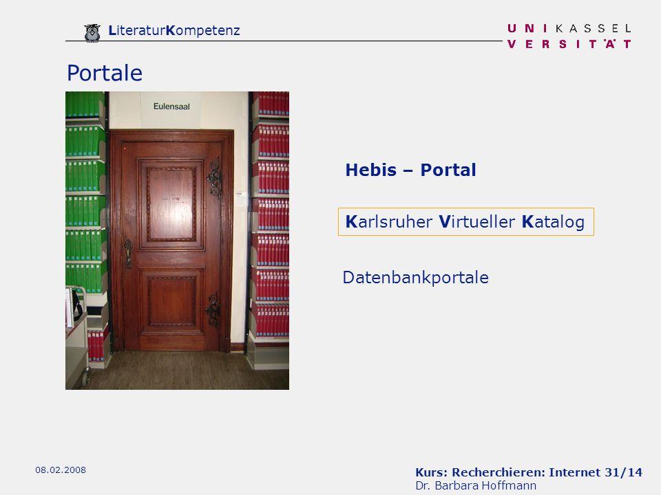 Portale Hebis – Portal Karlsruher Virtueller Katalog Datenbankportale
