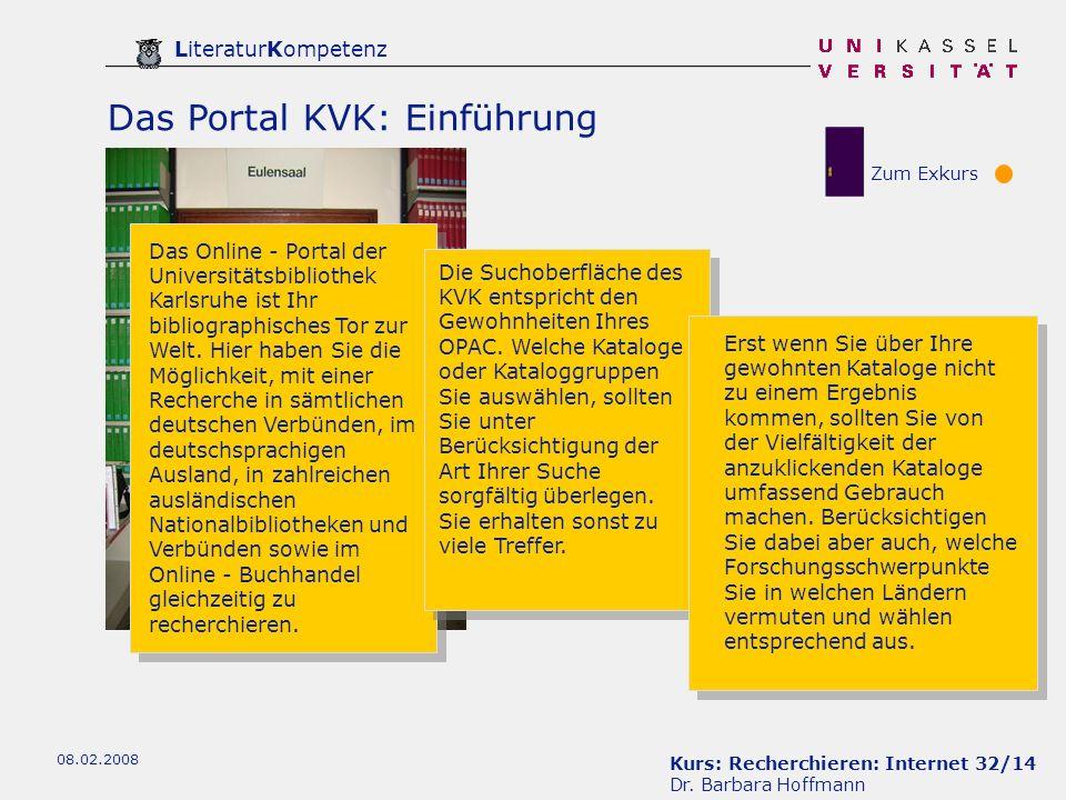 Das Portal KVK: Einführung