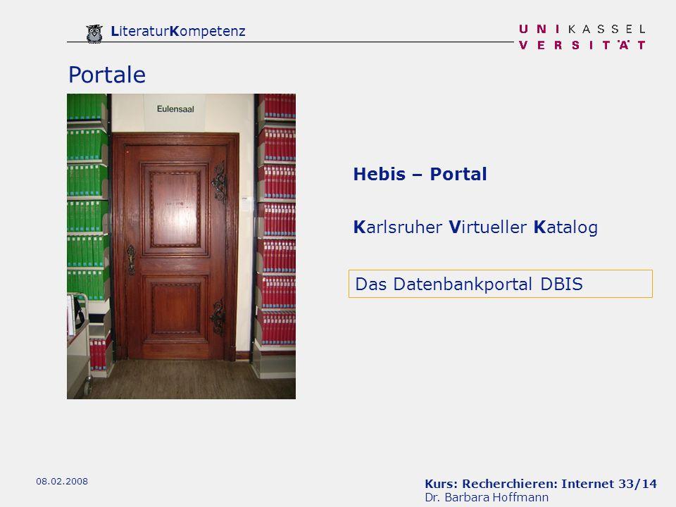 Portale Hebis – Portal Karlsruher Virtueller Katalog