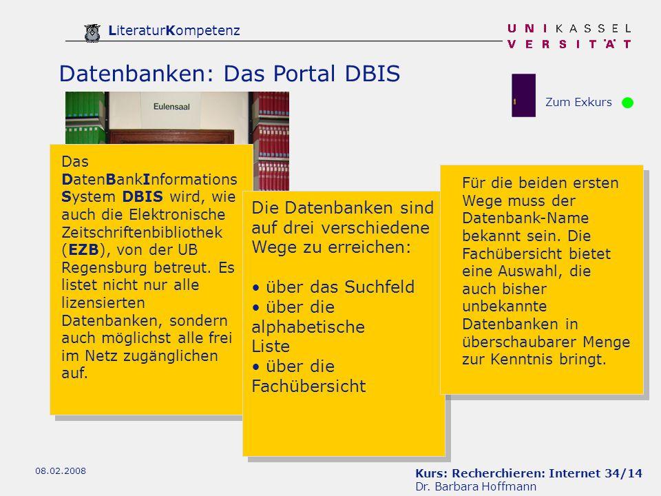 Datenbanken: Das Portal DBIS