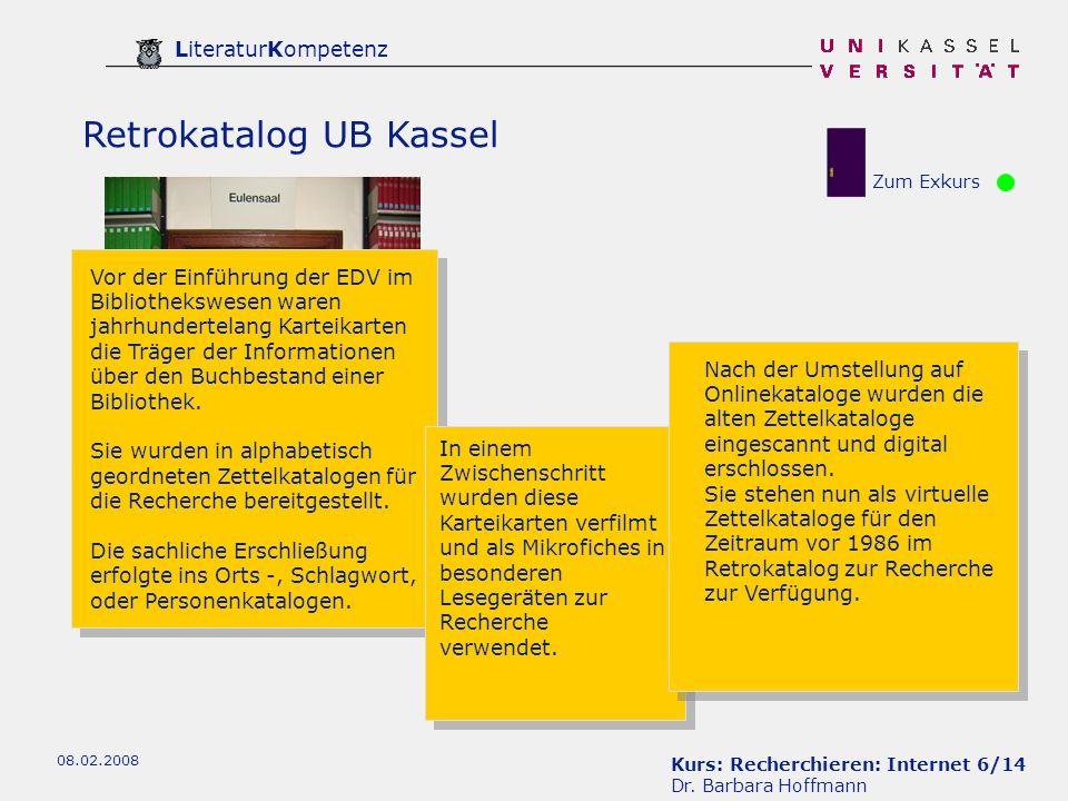 Retrokatalog UB Kassel