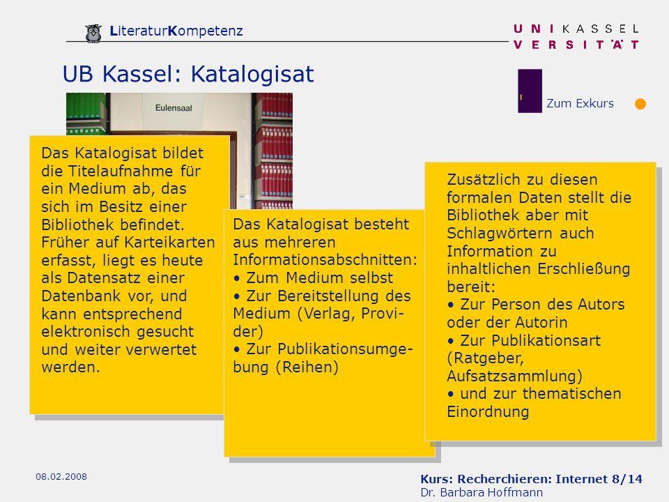 UB Kassel: Katalogisat