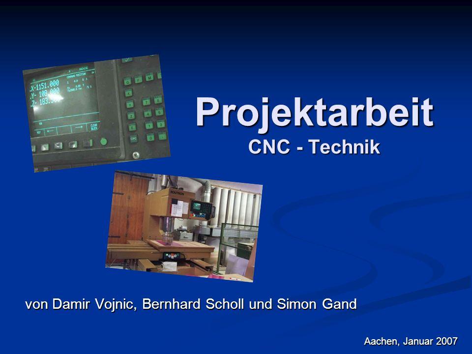Projektarbeit CNC - Technik