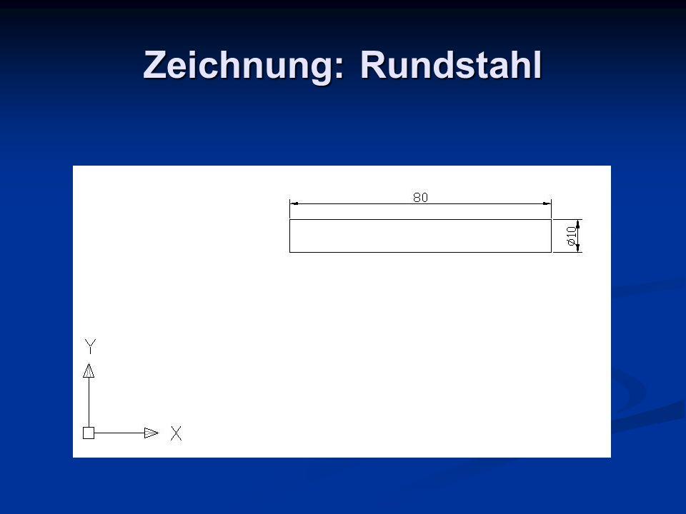 Zeichnung: Rundstahl