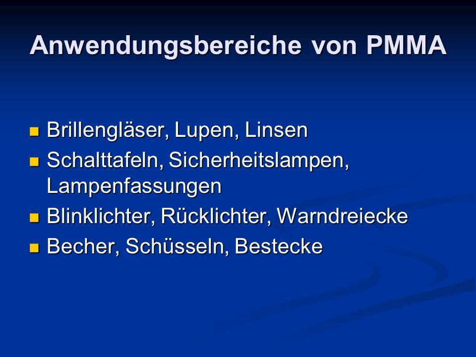 Anwendungsbereiche von PMMA