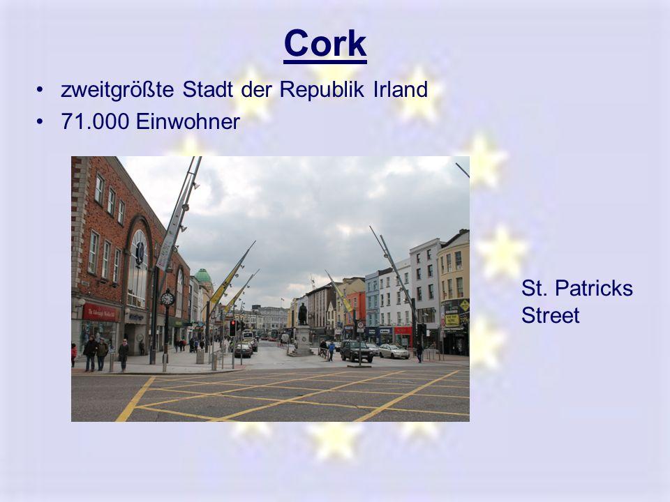 Cork zweitgrößte Stadt der Republik Irland 71.000 Einwohner