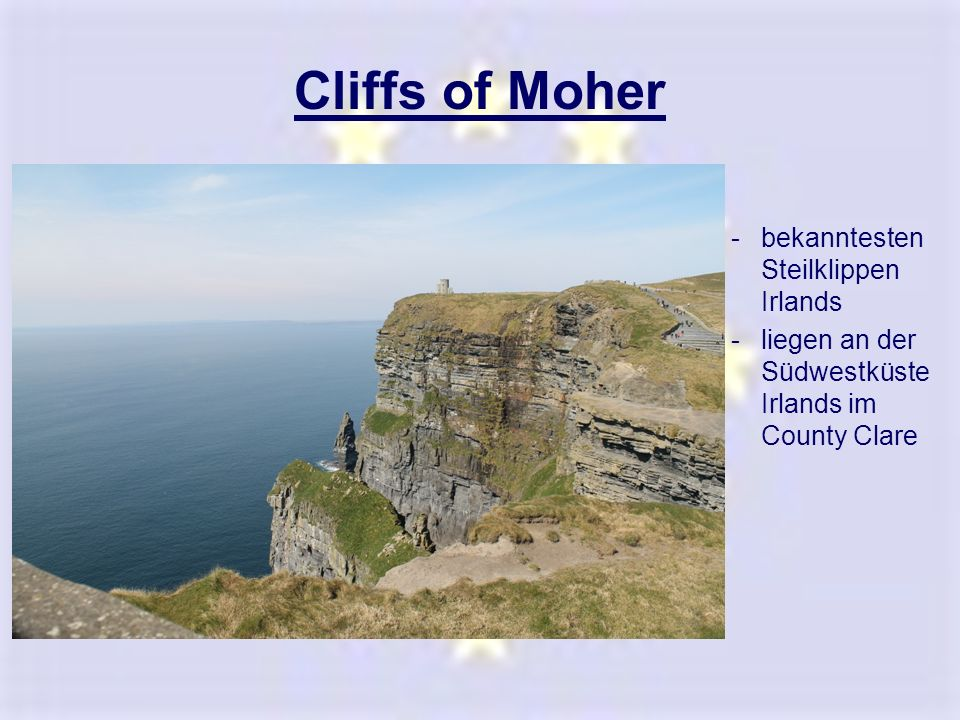 Cliffs of Moher bekanntesten Steilklippen Irlands