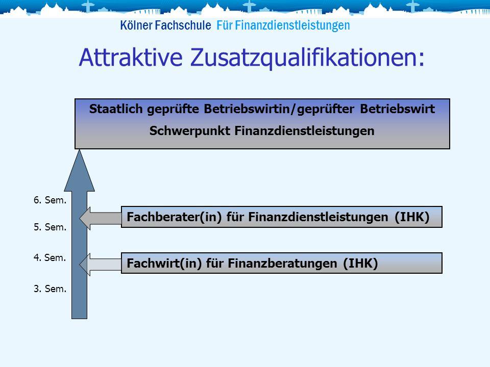 Attraktive Zusatzqualifikationen:
