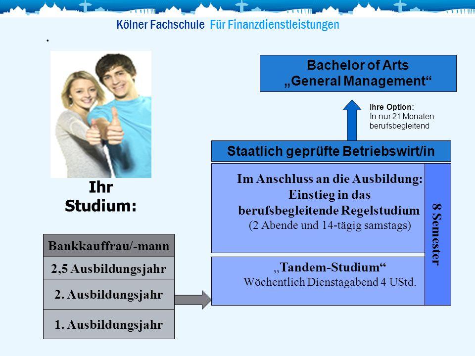 . Ihr Studium: Kölner Fachschule Für Finanzdienstleistungen