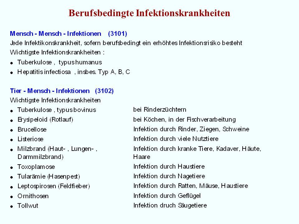 Berufsbedingte Infektionskrankheiten