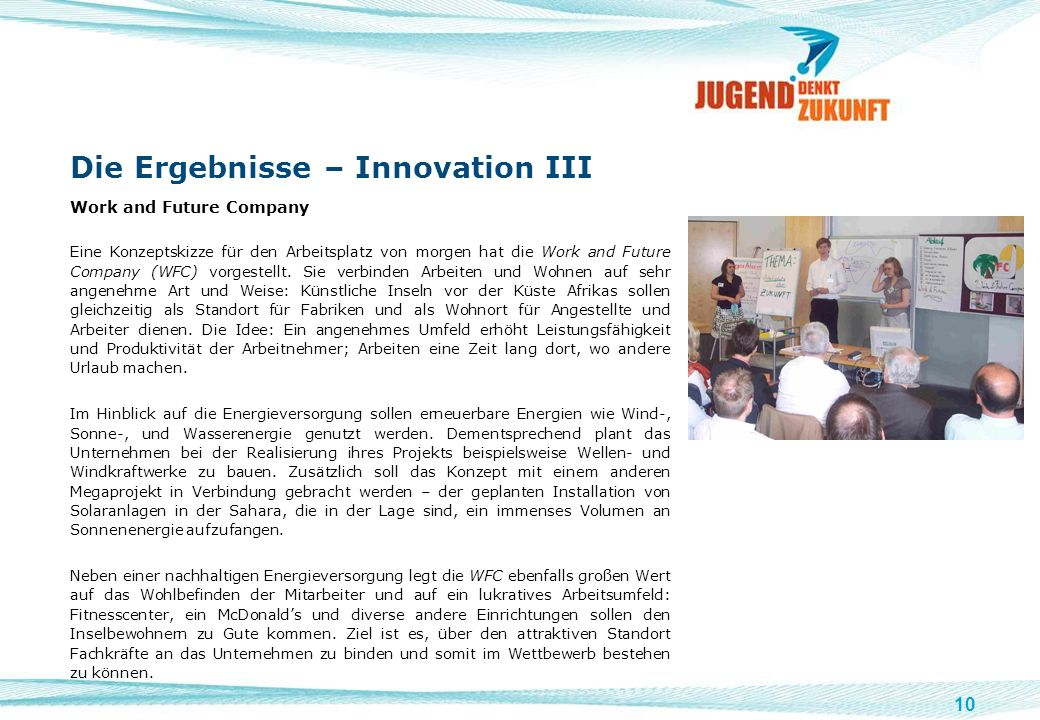 Die Ergebnisse – Innovation III