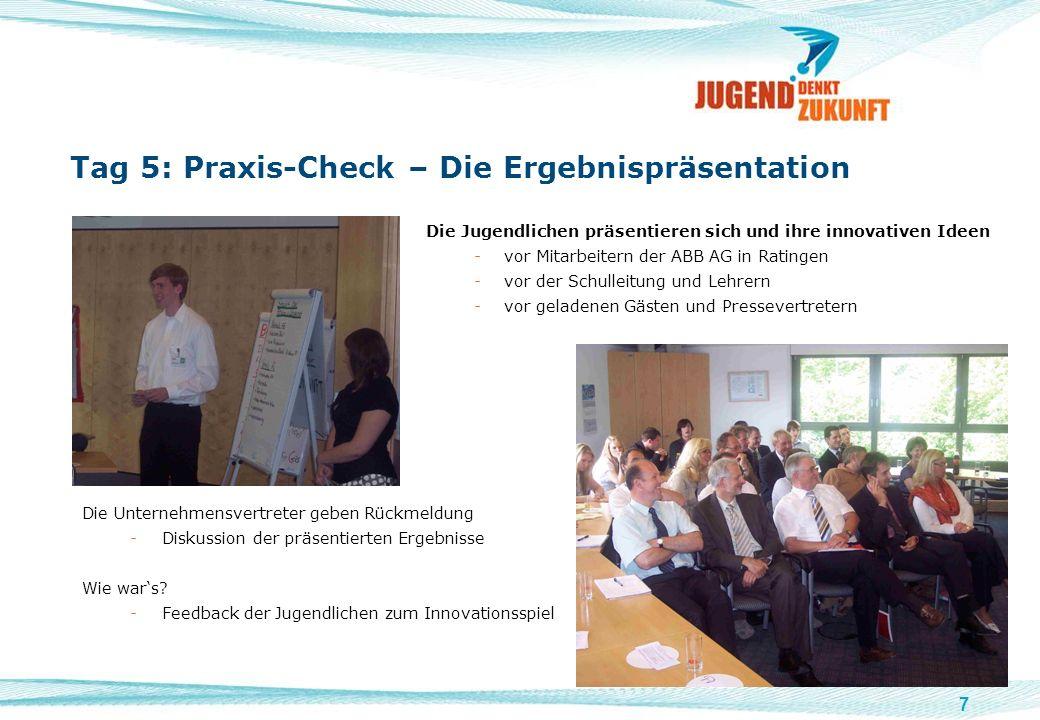 Tag 5: Praxis-Check – Die Ergebnispräsentation