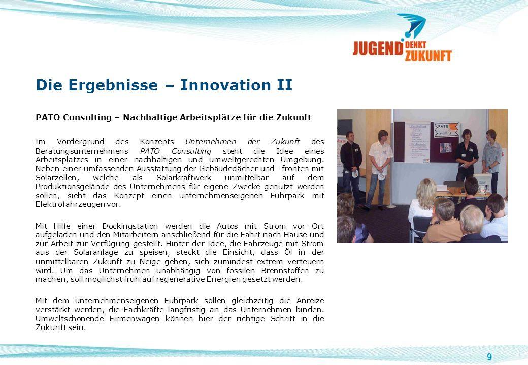 Die Ergebnisse – Innovation II