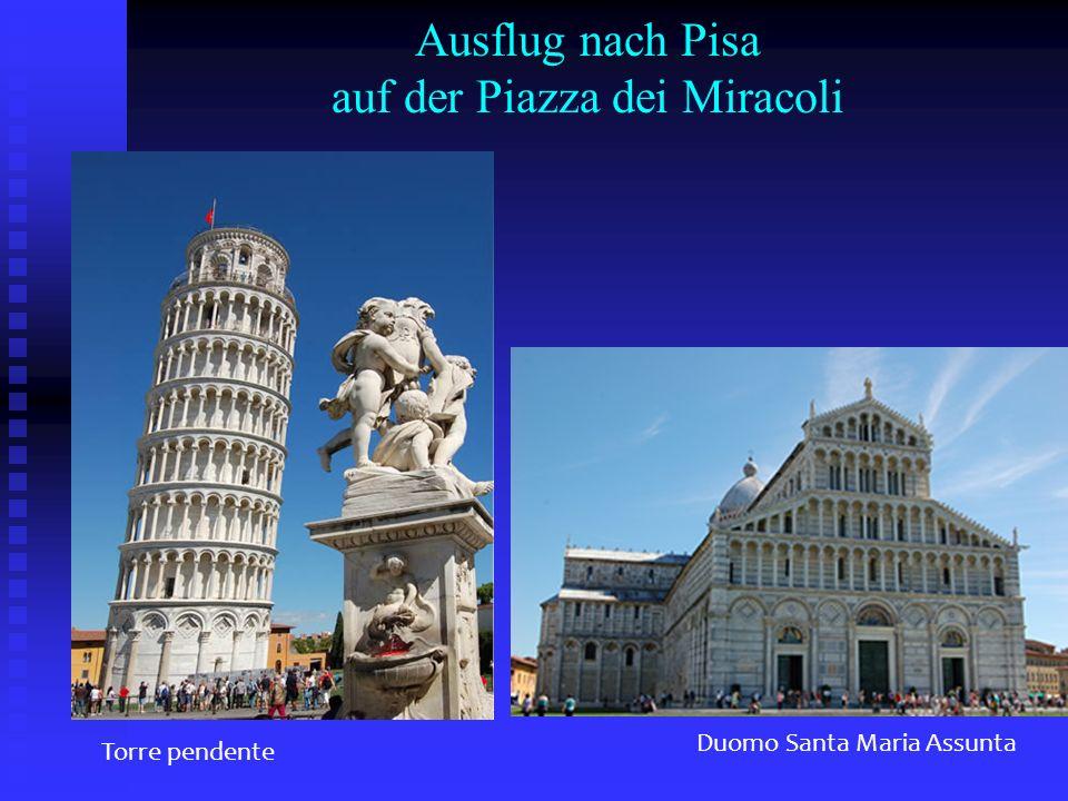 Ausflug nach Pisa auf der Piazza dei Miracoli