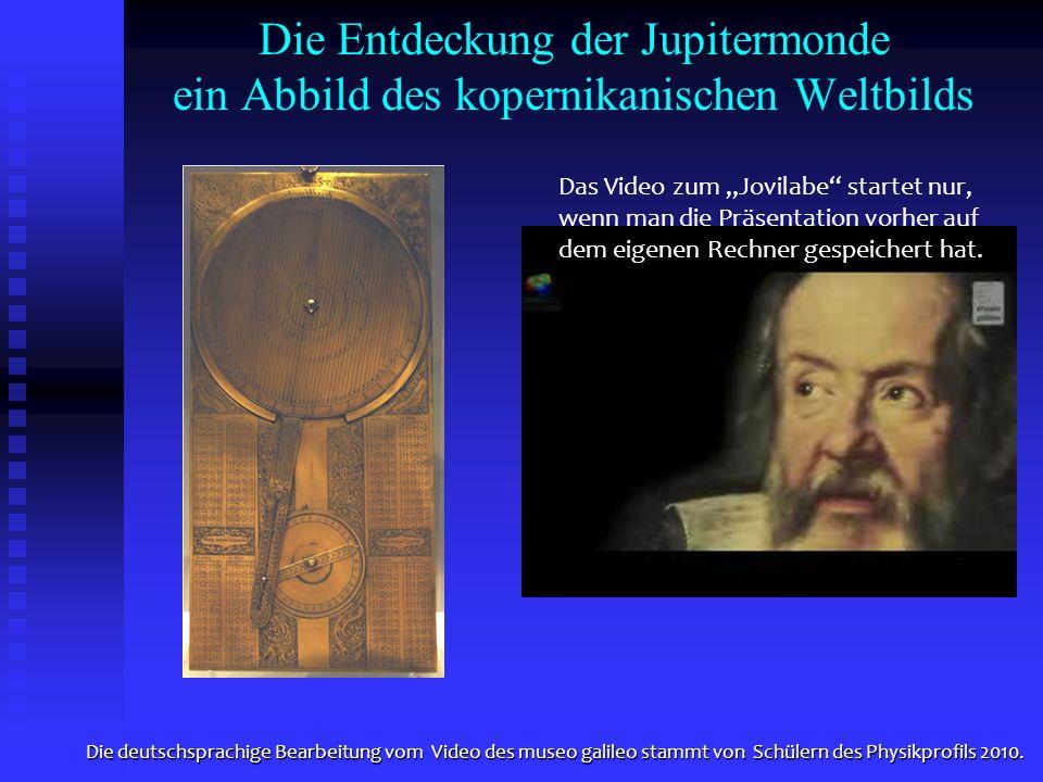 Die Entdeckung der Jupitermonde ein Abbild des kopernikanischen Weltbilds