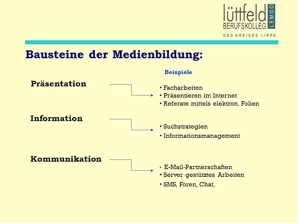 Bausteine der Medienbildung: